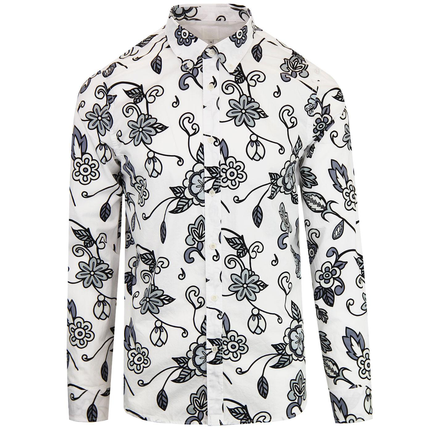 PRETTY GREEN X THE BEATLES Prudence Floral Shirt G