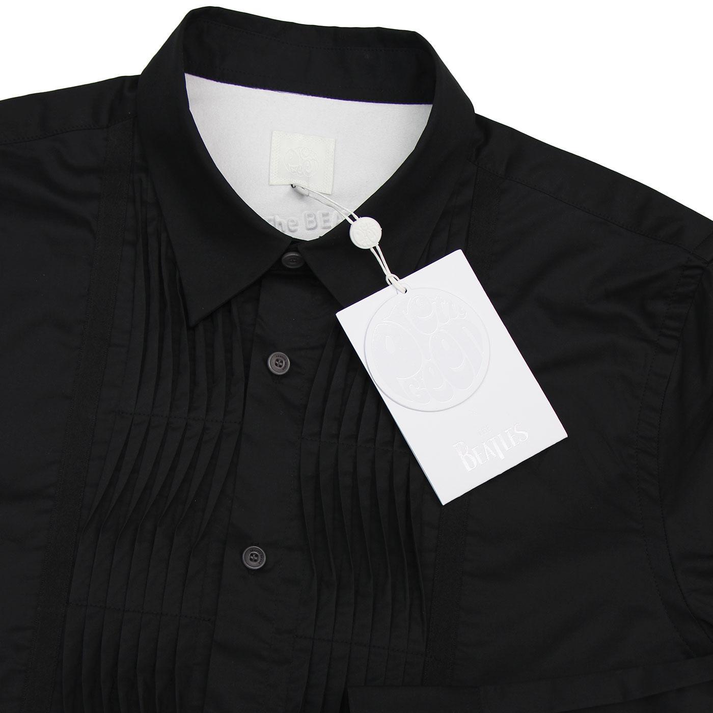 34b43983a PRETTY GREEN x THE BEATLES Piggies 60s Tuxedo Shirt B