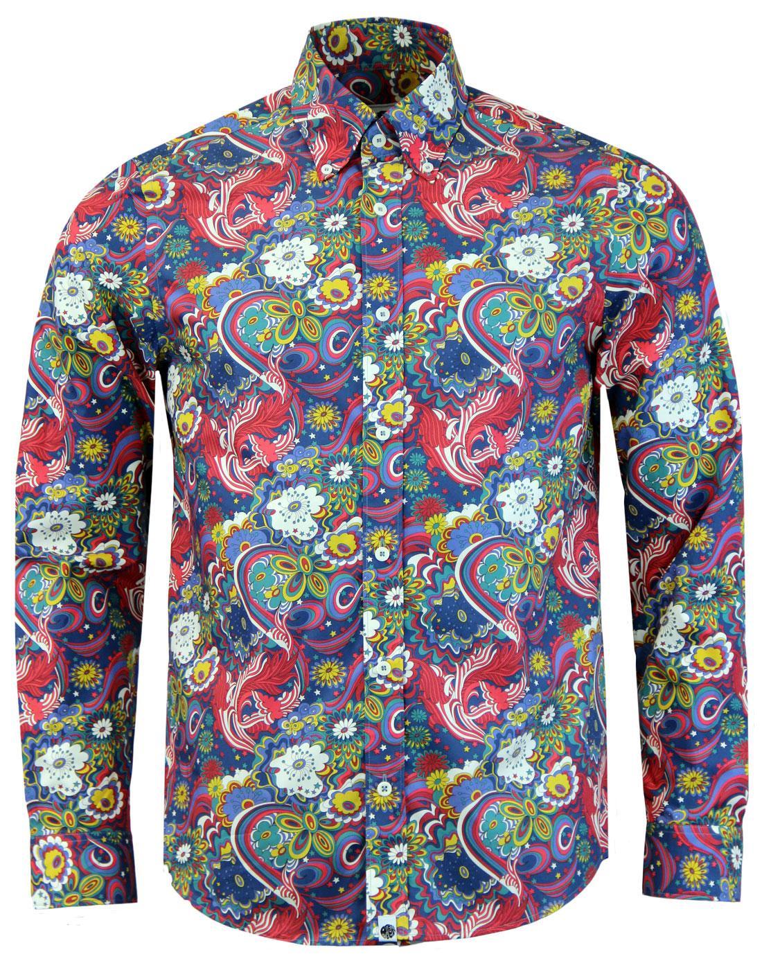 PRETTY GREEN x THE BEATLES Walrus Mod Floral Shirt