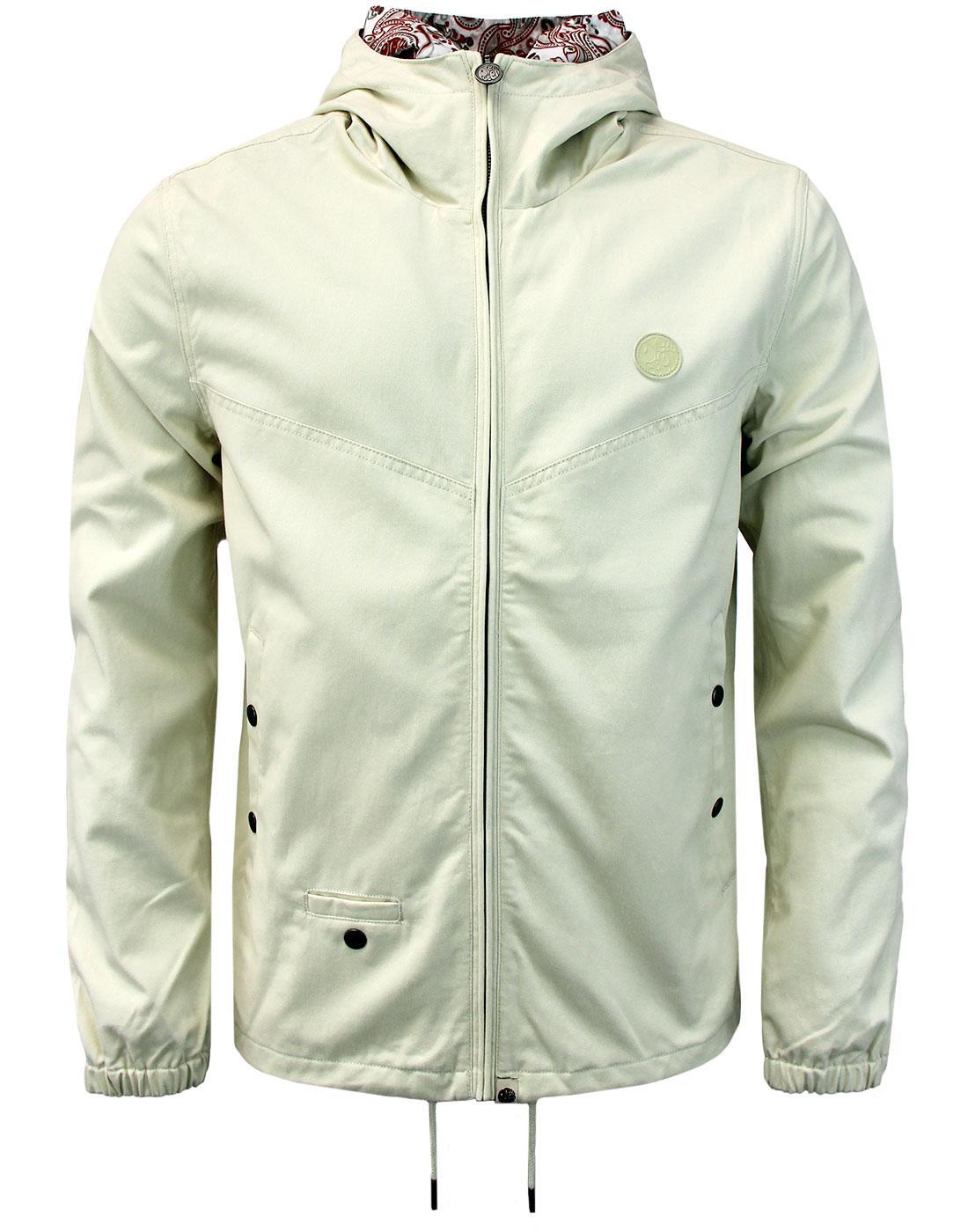 Beckford PRETTY GREEN Retro Hooded Jacket STONE