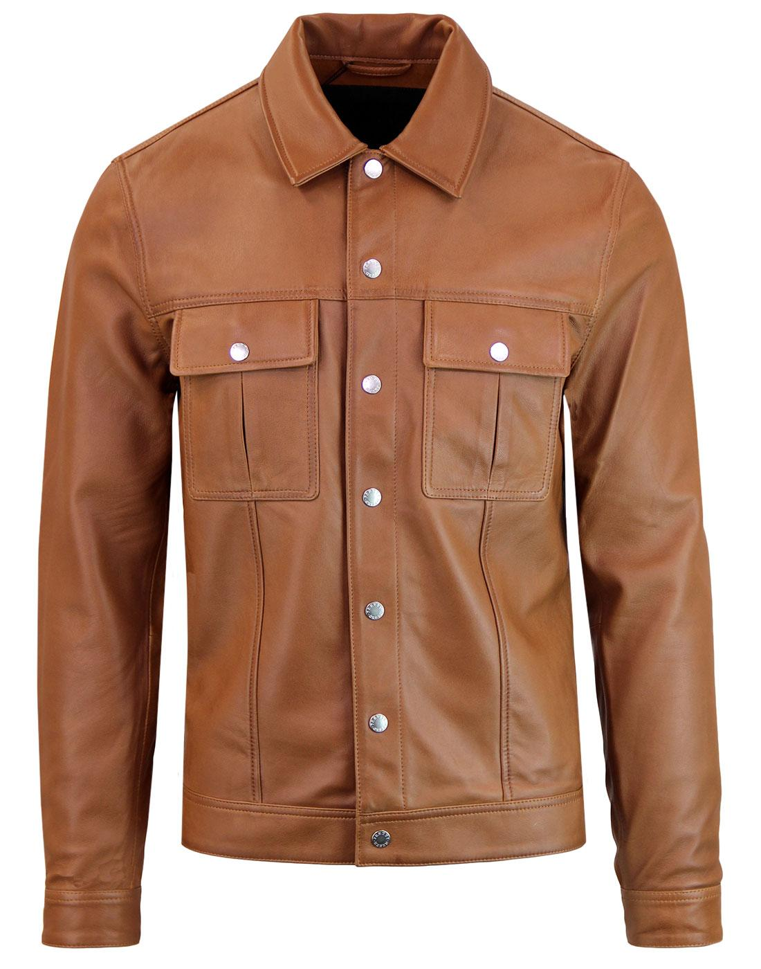 PRETTY GREEN Black Label Western Leather Jacket