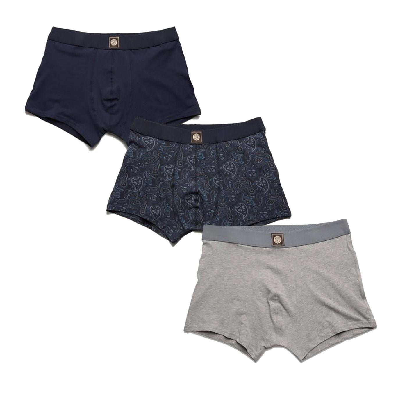 PRETTY GREEN 3 Pack Retro Boxer Shorts Gift Set N