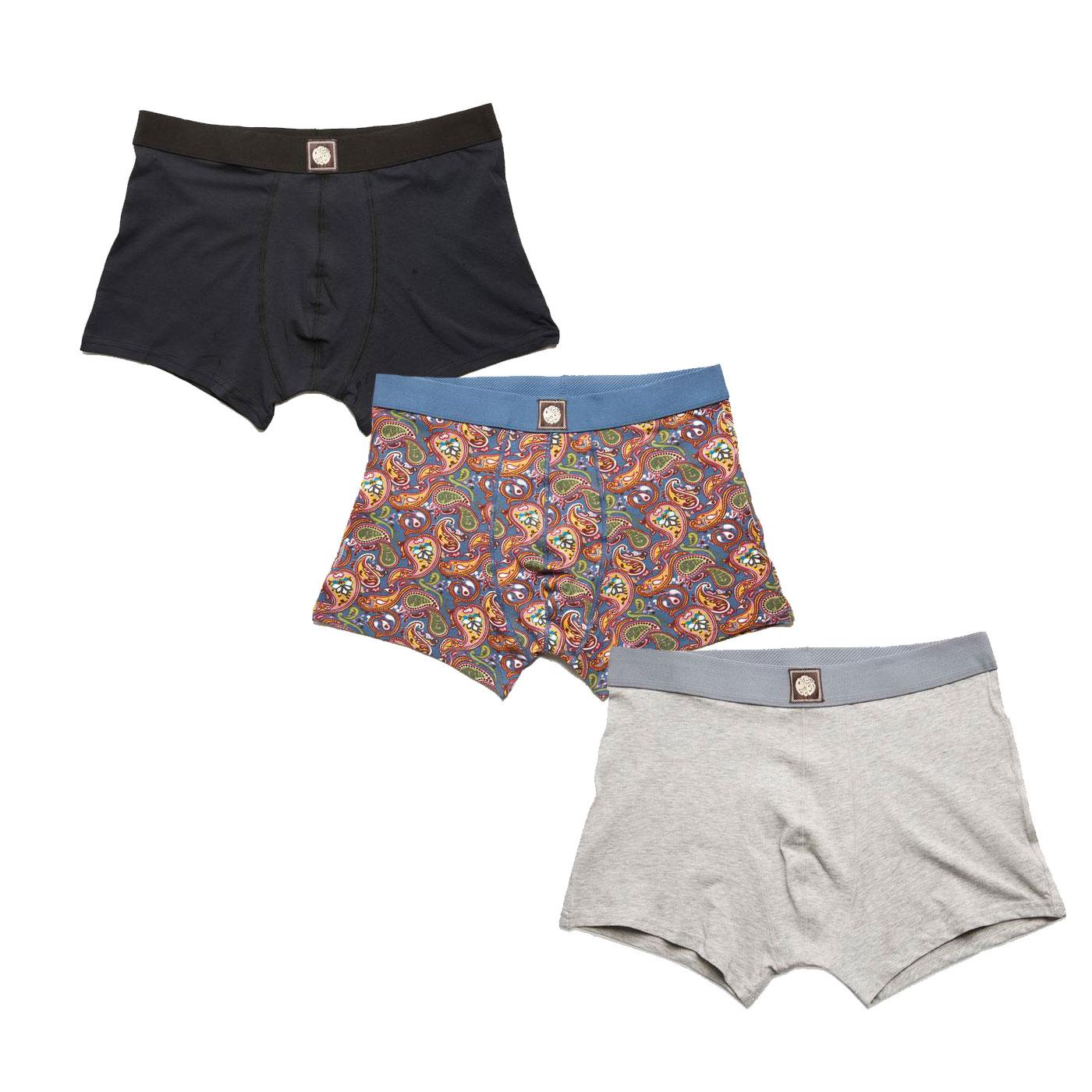 + PRETTY GREEN 3 Pack Retro Boxer Shorts Gift Set
