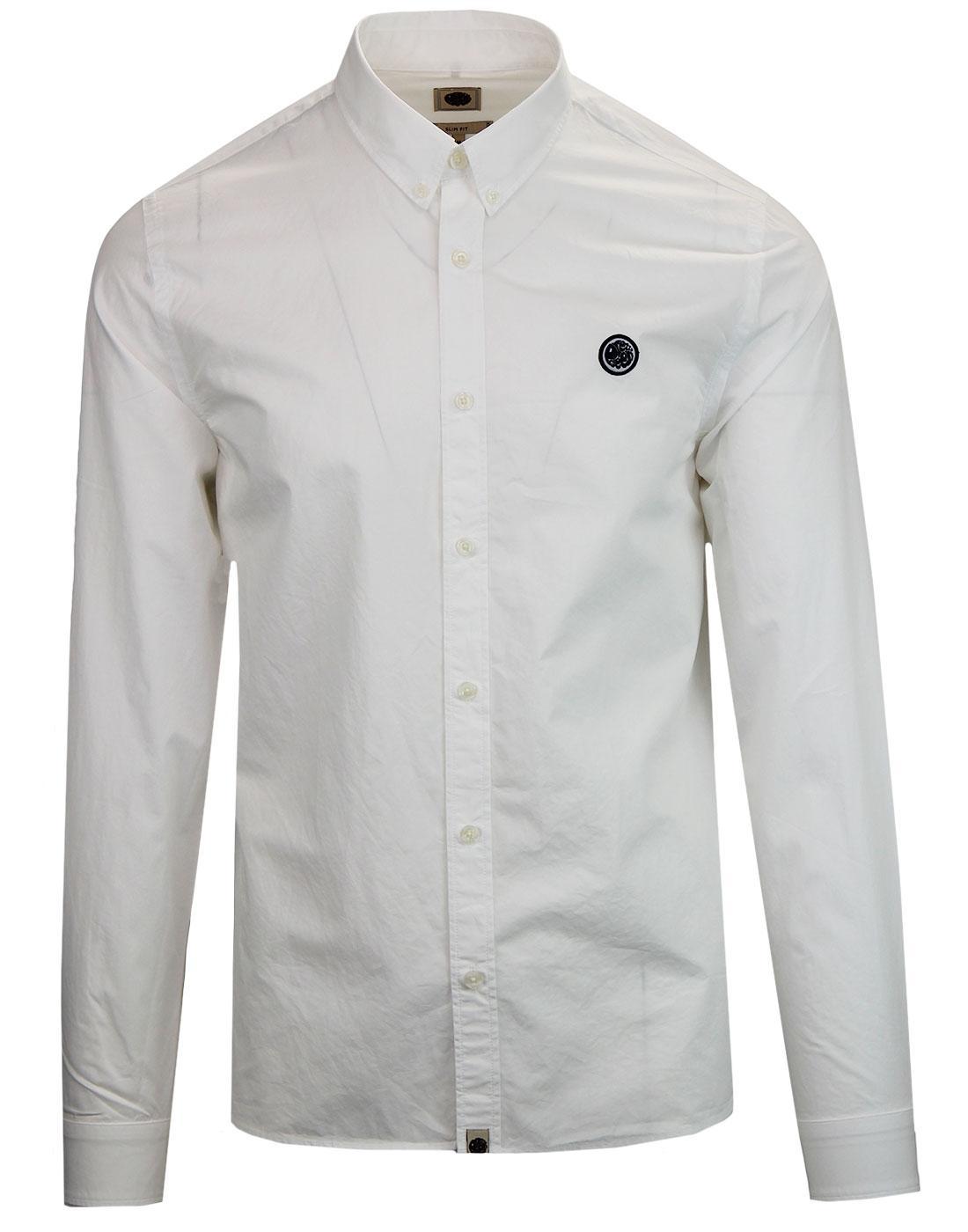 PRETTY GREEN Retro Mod Badge Button Down Shirt (W)