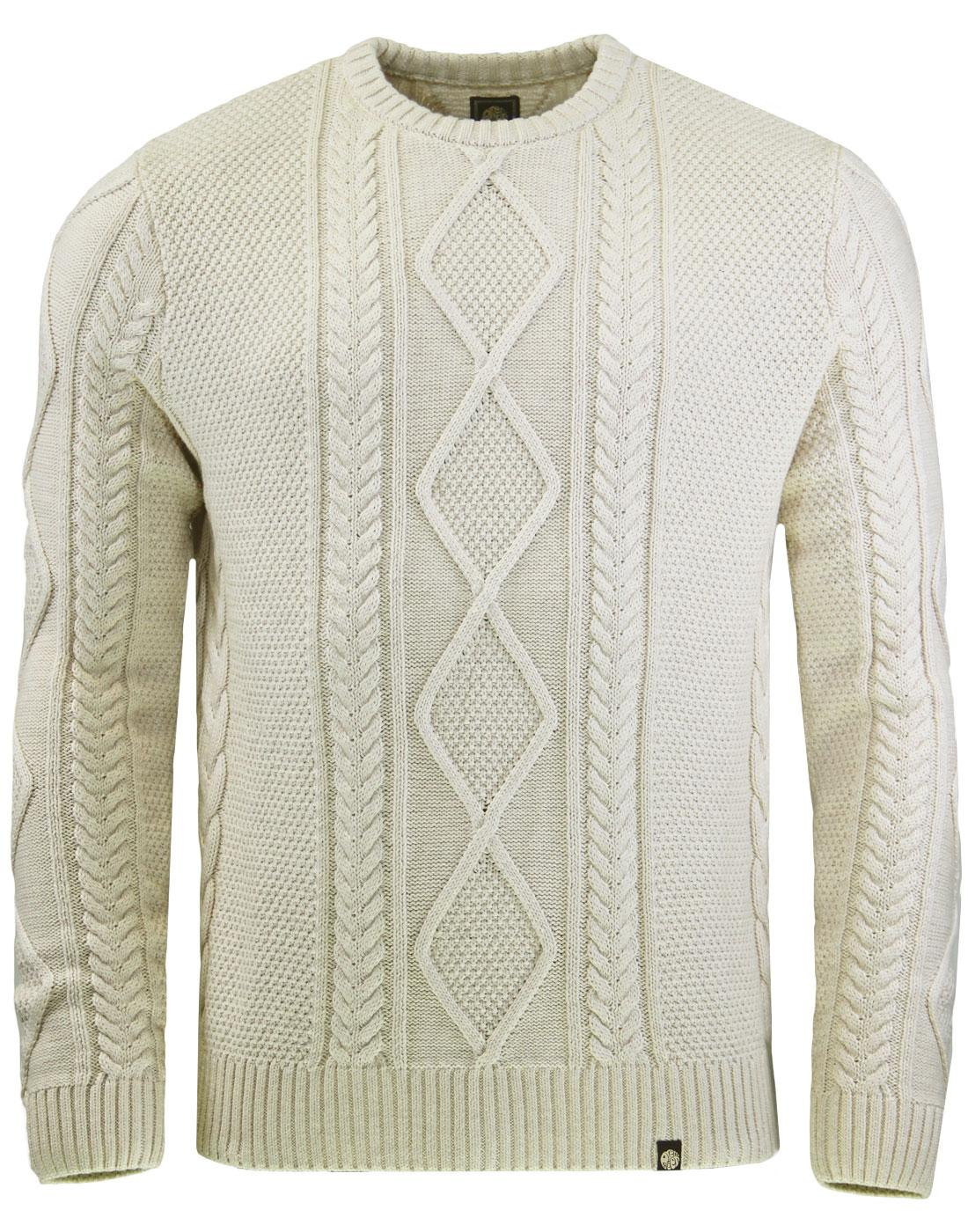 Starboard PRETTY GREEN Cable Knit Fisherman Jumper