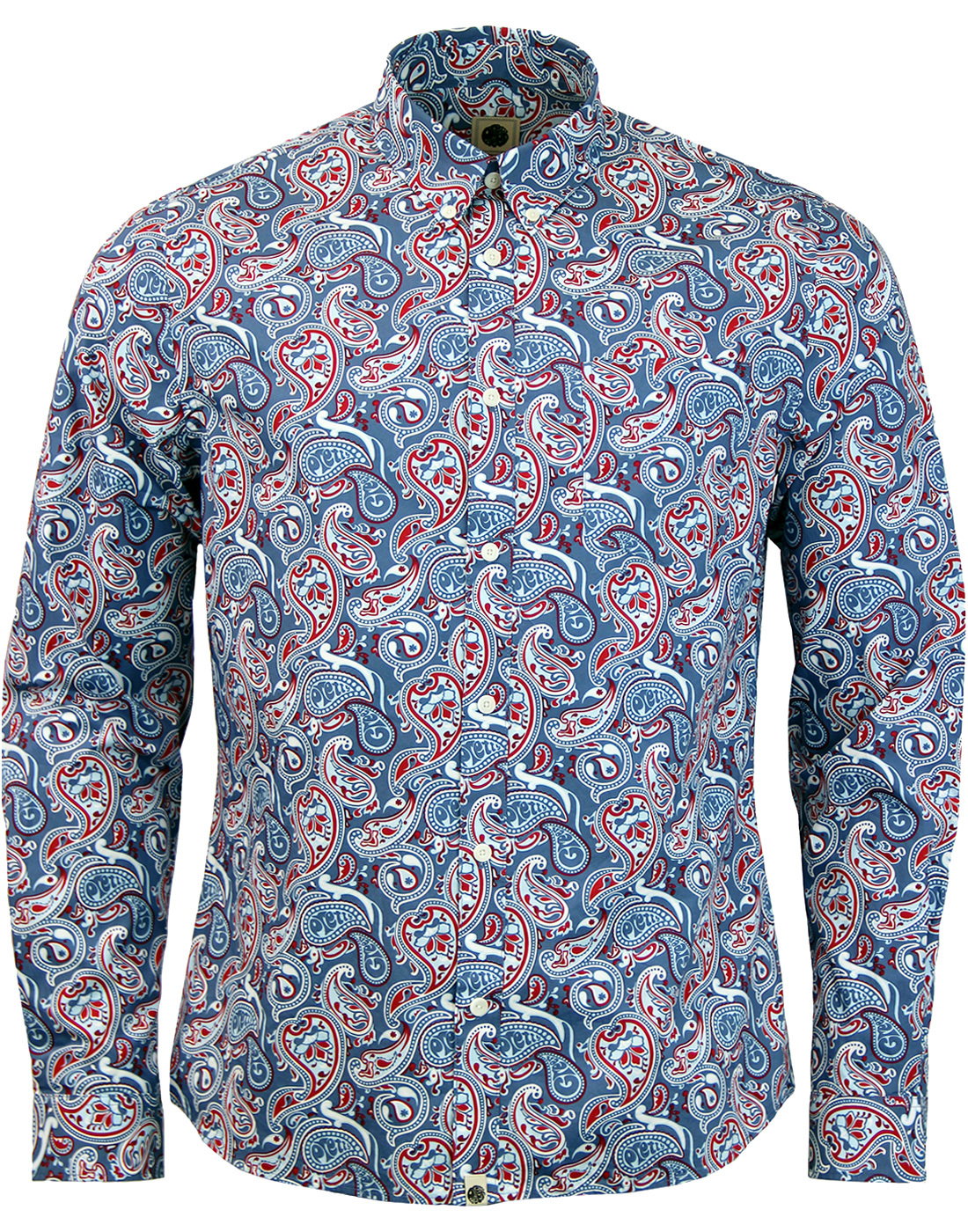 Camley Paisley PRETTY GREEN Psychedelic Mod Shirt