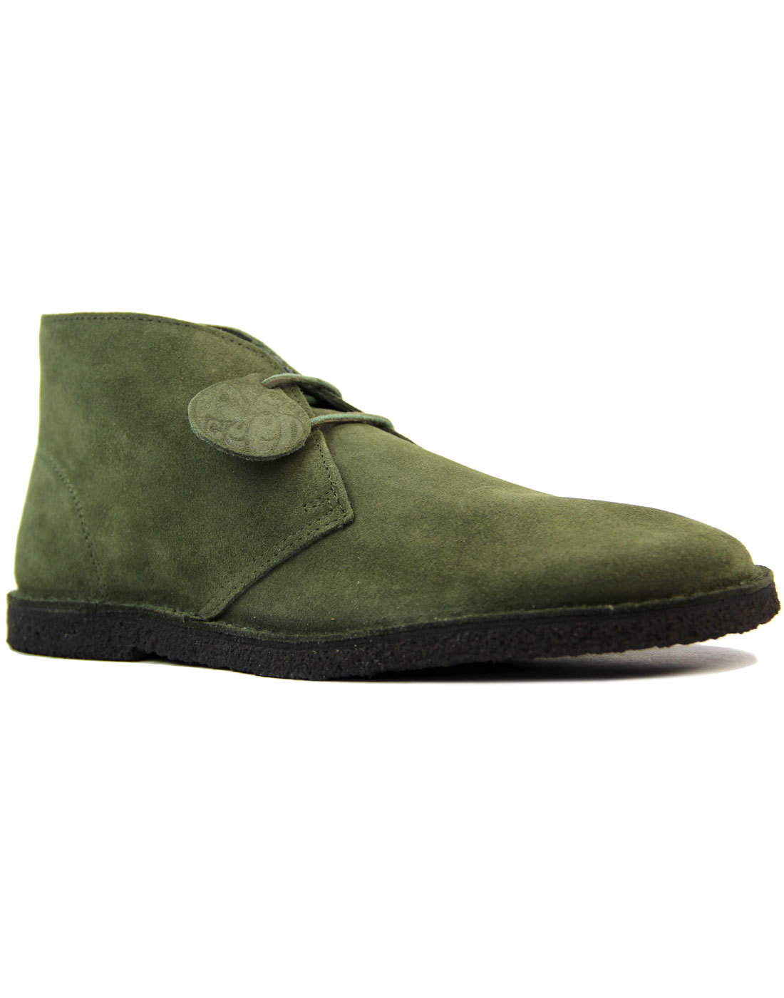 PRETTY GREEN Retro Mod Khaki Suede Desert Boots