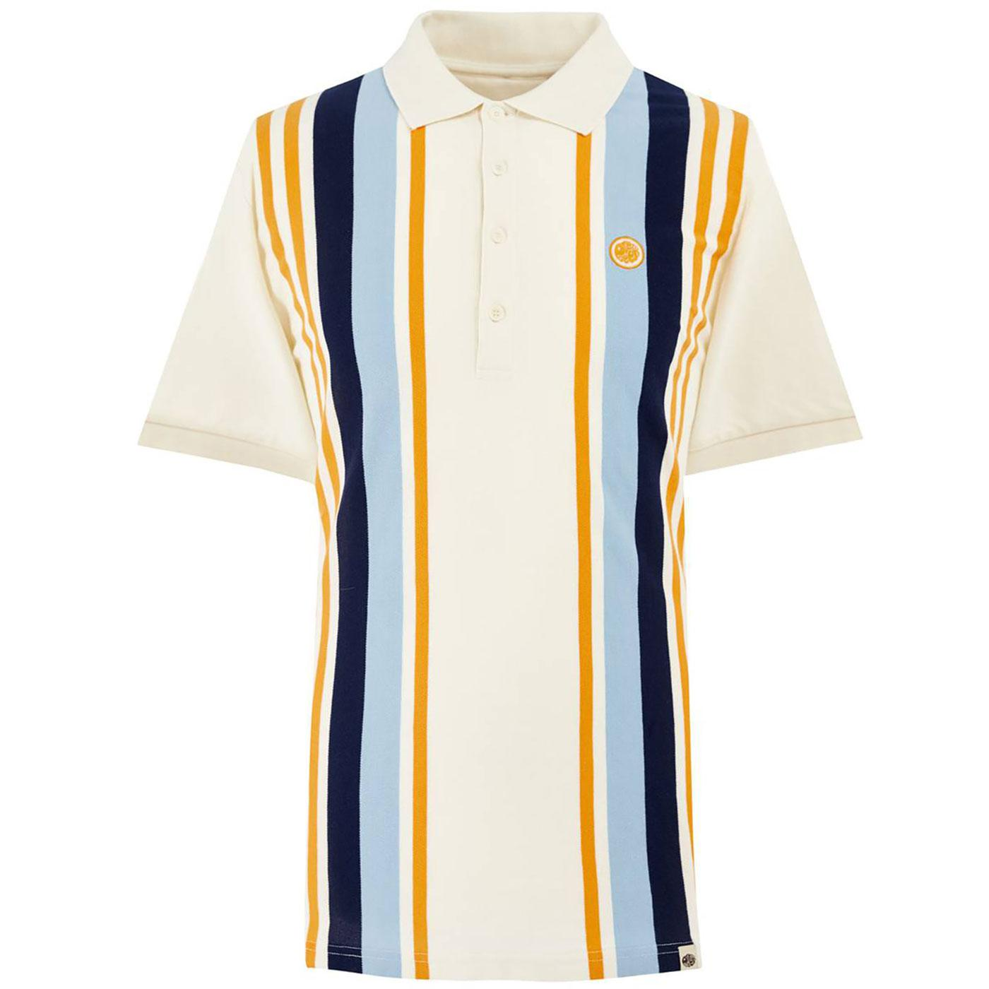 PRETTY GREEN Mod Vertical Engineered Stripe Polo