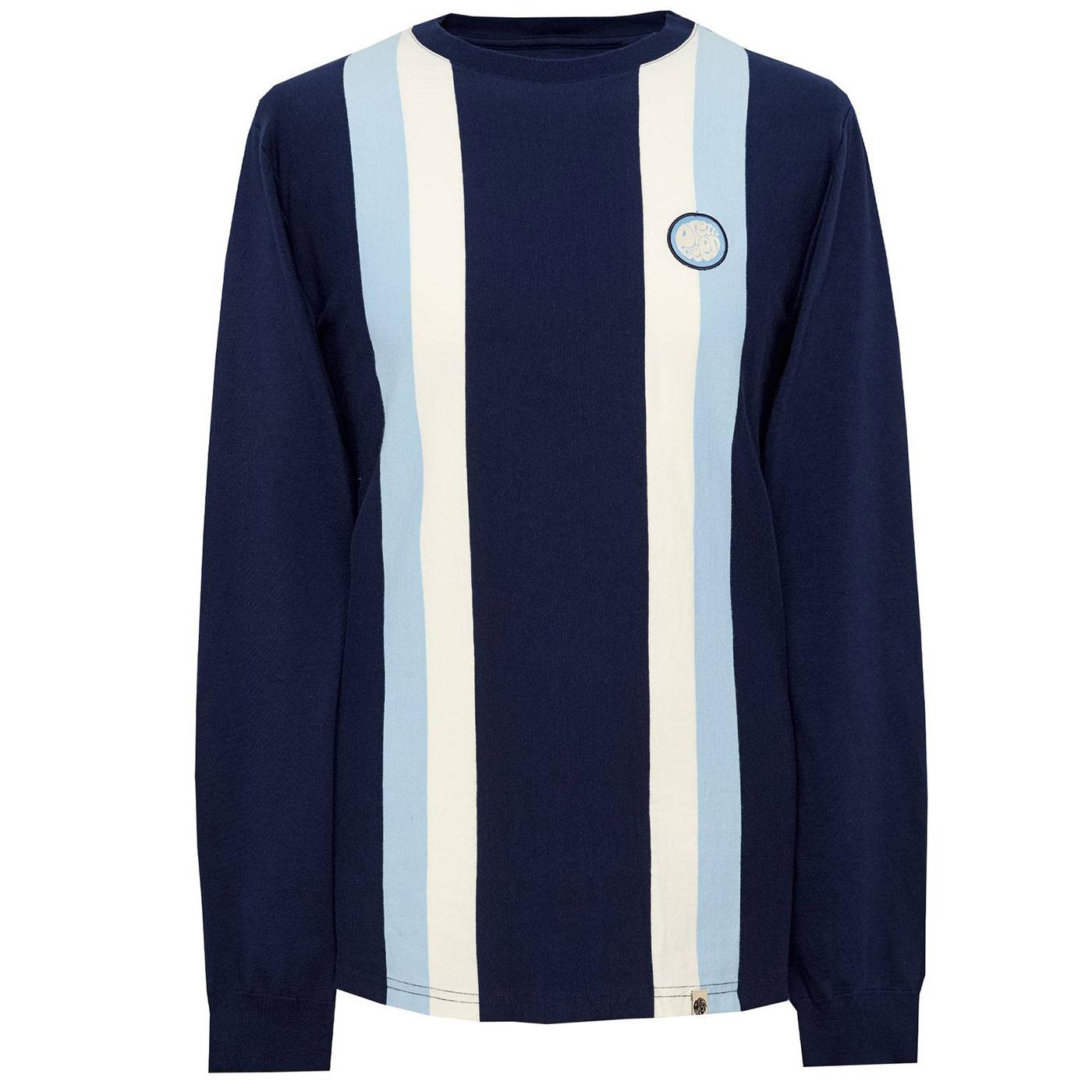 PRETTY GREEN Men's Engineered Stripe T-Shirt NAVY