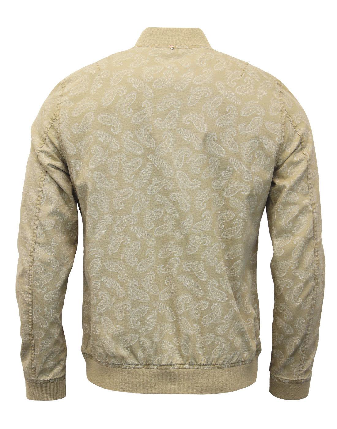 fd0a2aca72aeae Heren  kleding Pretty Green Harrington Forrester Jacket Sand Paisley Print