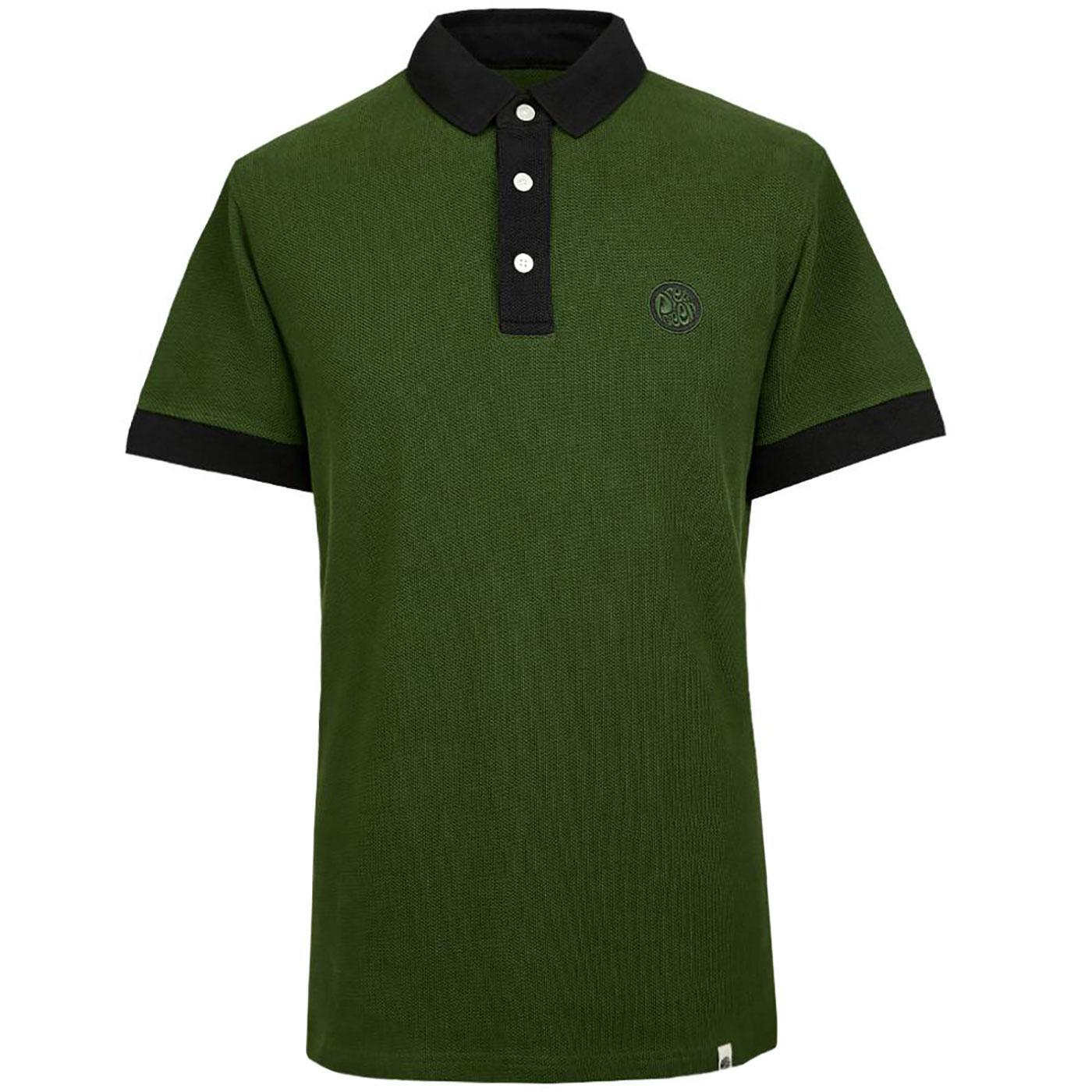 PRETTY GREEN 1960's Heavyweight Pique Polo Shirt G