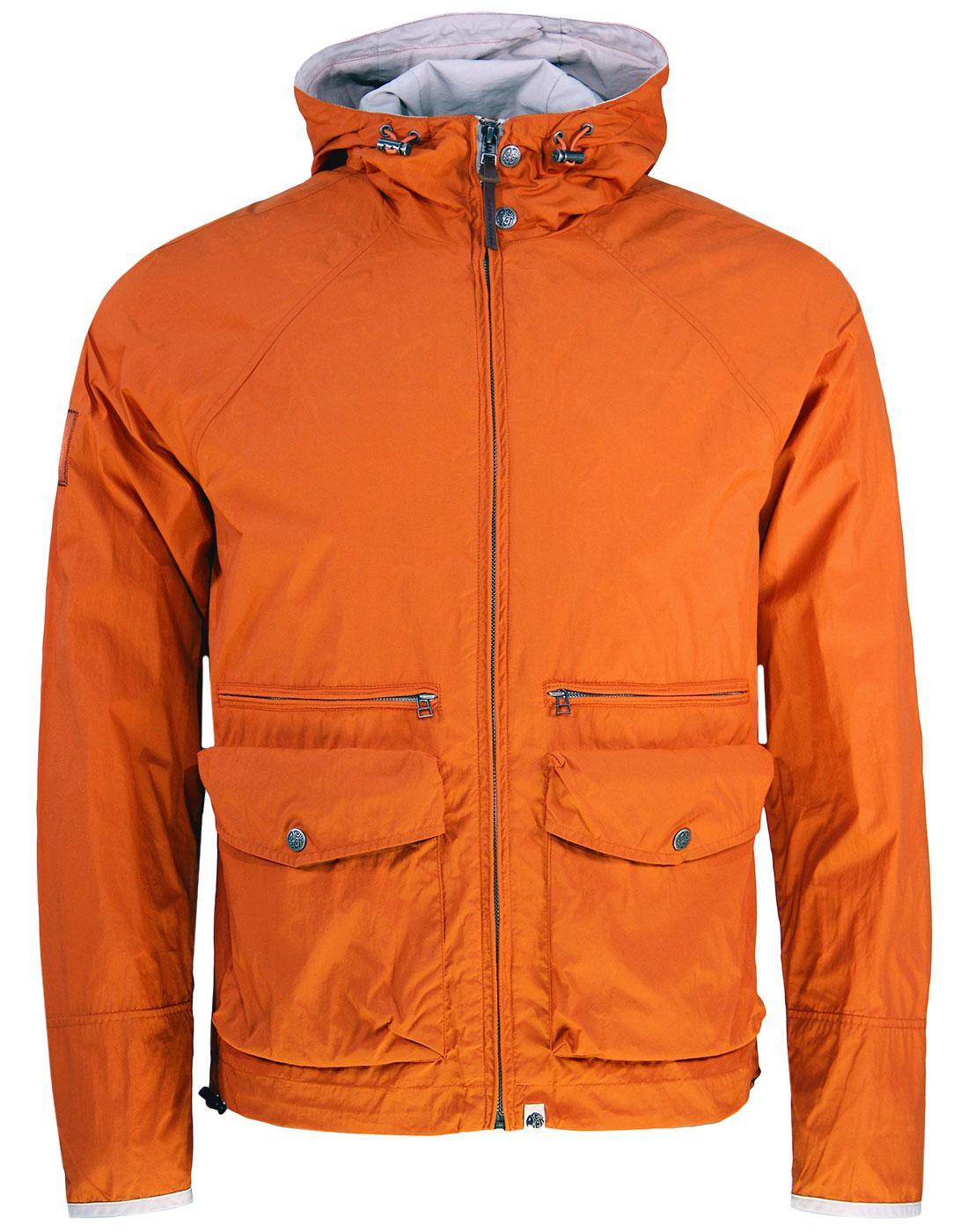 Huntley PRETTY GREEN Retro Orange Hooded Jacket