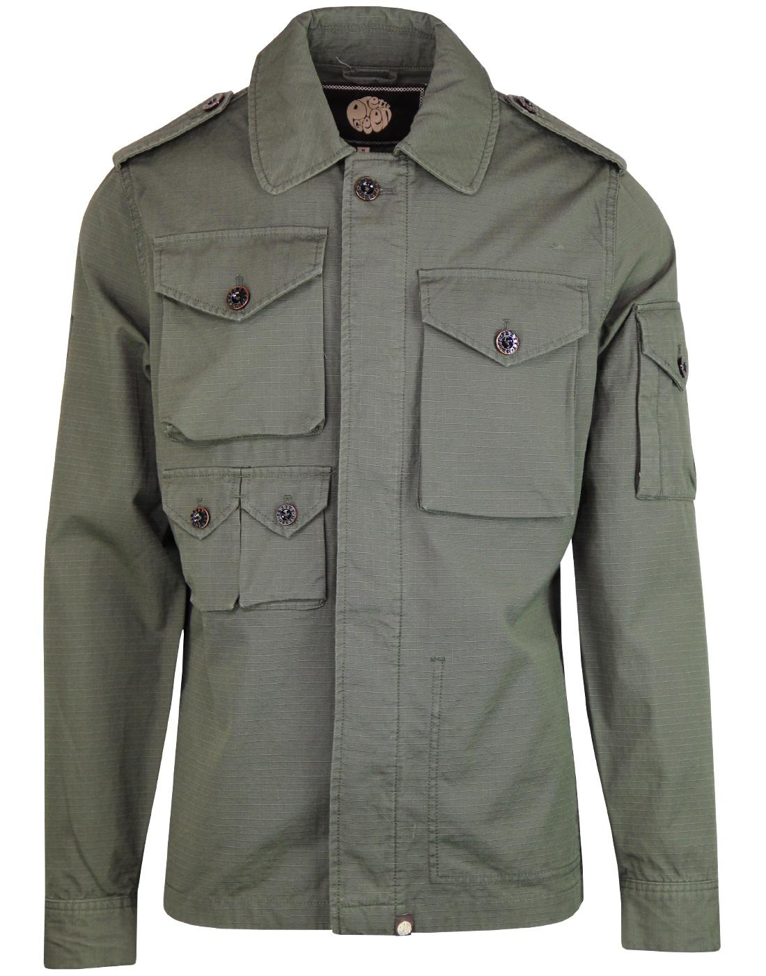 PRETTY GREEN Men's Mod M65 Military Field Jacket