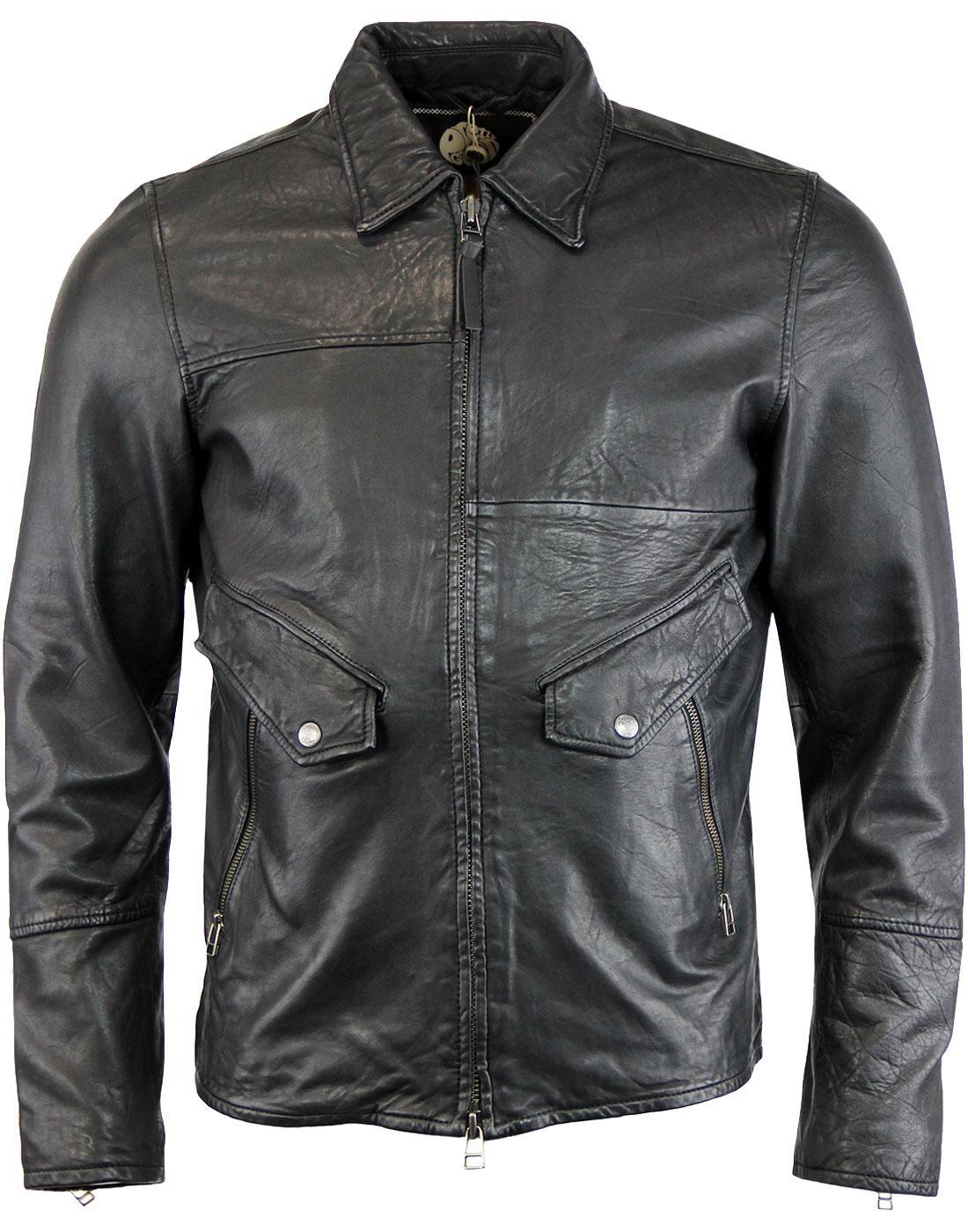Jennets PRETTY GREEN Sixties Leather Jacket