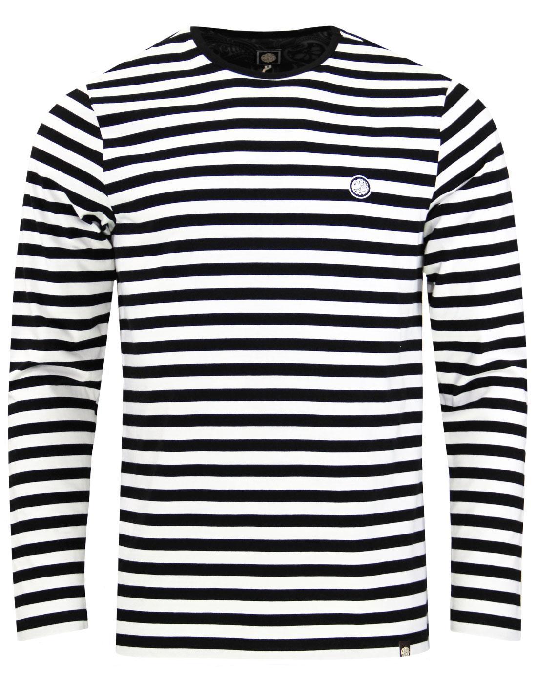 613a1153842 Kinsey PRETTY GREEN 60s Mod Long Sleeve Stripe Tee