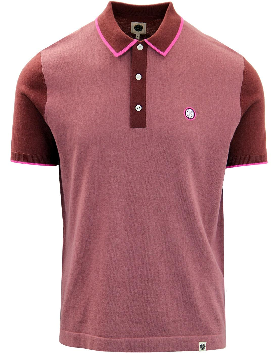 PRETTY GREEN Mod Contrast Panel Knitted Polo Bu