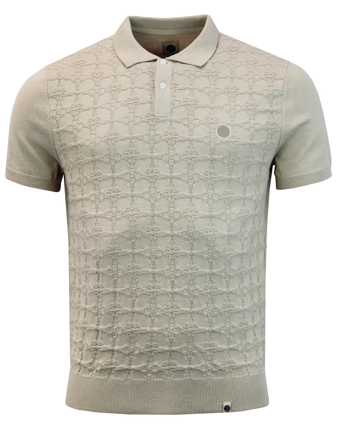 Eton PRETTY GREEN Retro Mod Textured Knit Polo (S)