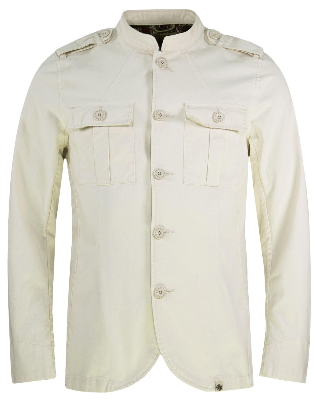 Langford PRETTY GREEN Mod Military Twill Jacket S