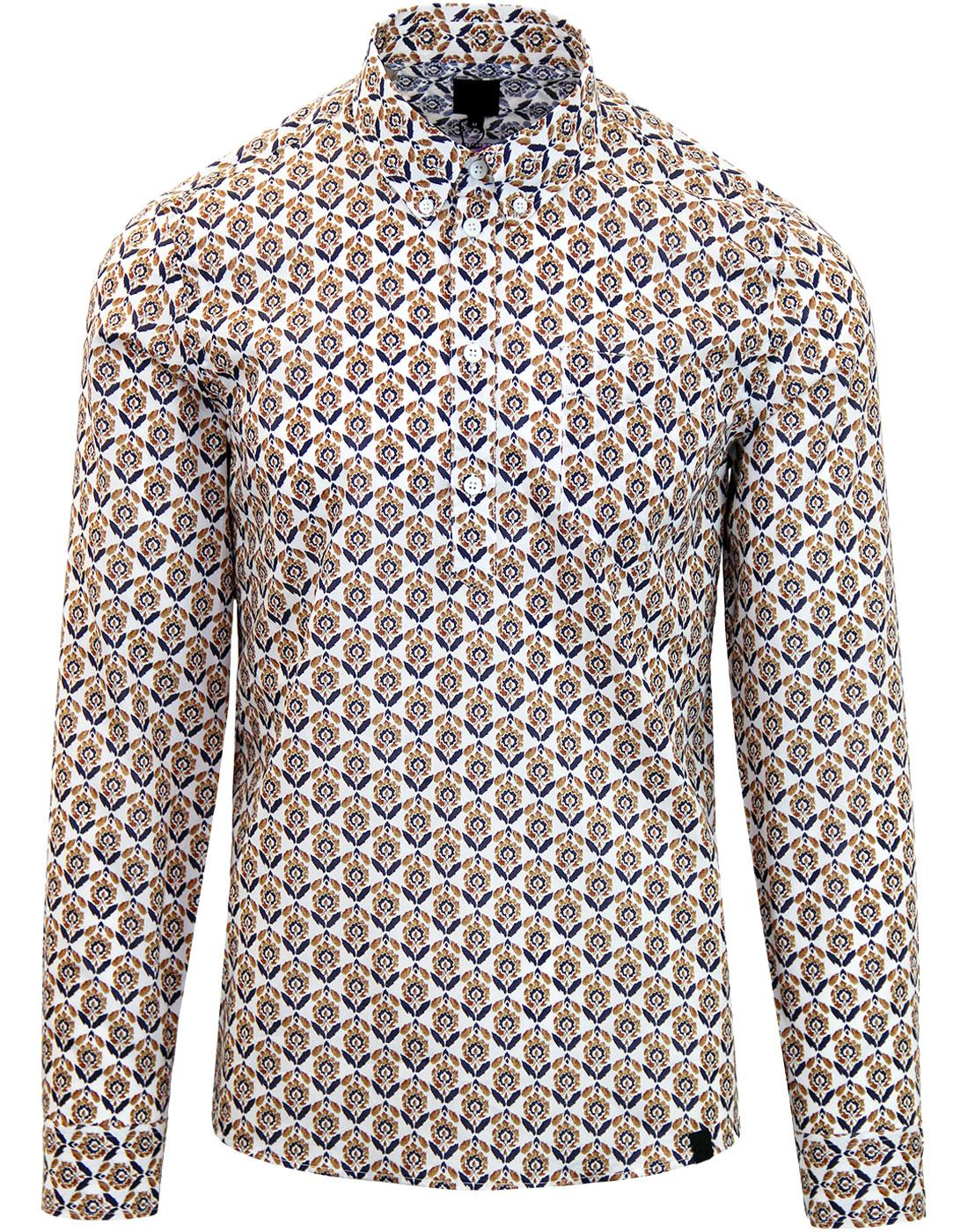 PRETTY GREEN Retro Liberty Floral Print Shirt BR