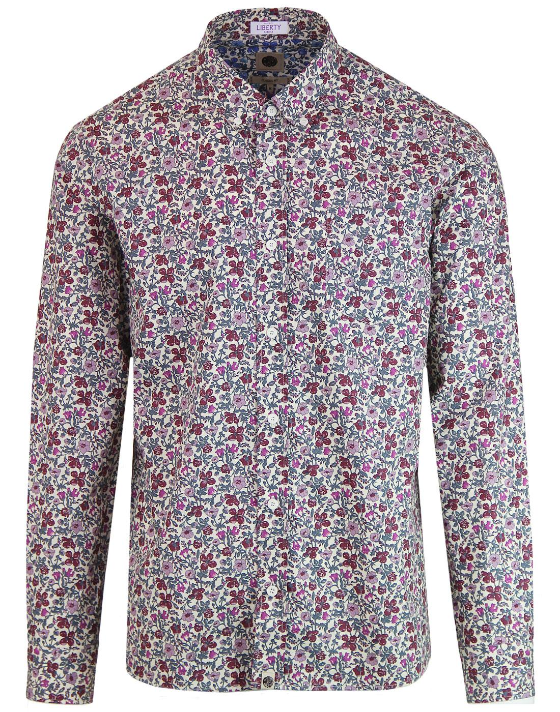 PRETTY GREEN 60s Mod Liberty Floral Shirt (Purple)