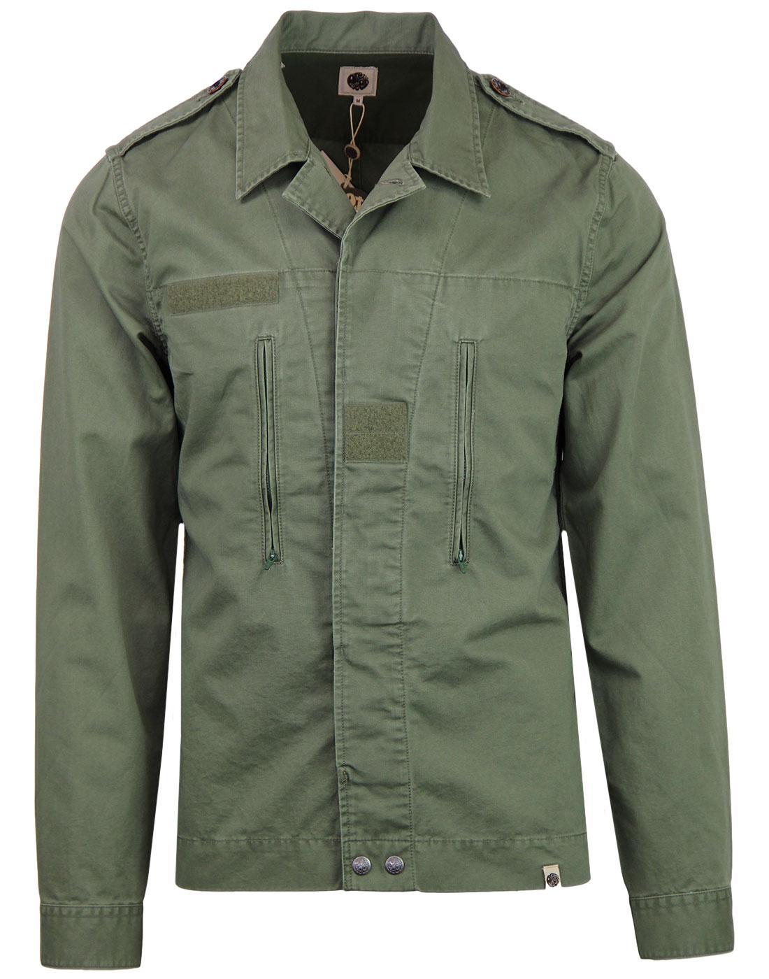 PRETTY GREEN Farringdon Military Mod Overshirt
