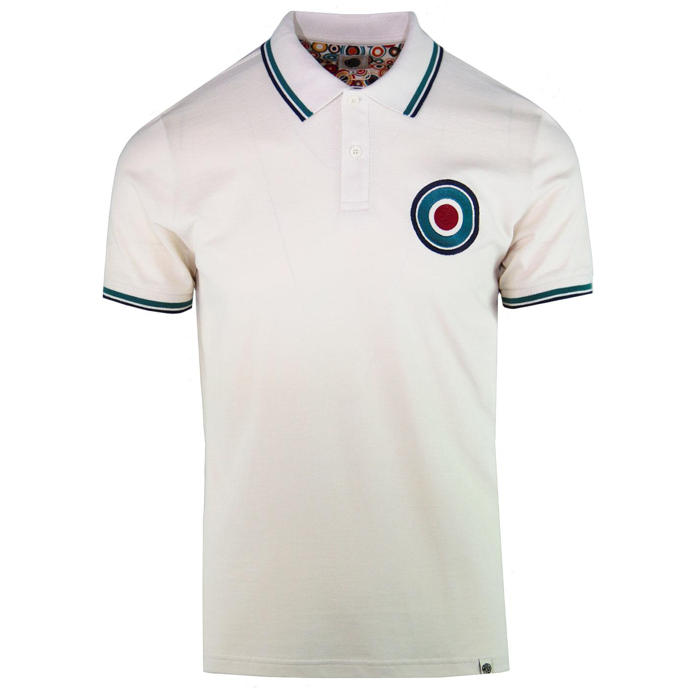 PRETTY GREEN Mod Twin Tipped Chest Target Polo
