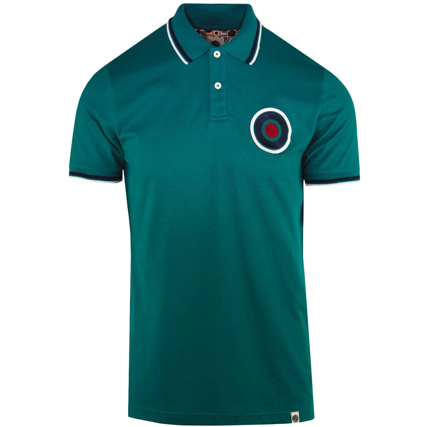 PRETTY GREEN Mod Twin Tipped Chest Target Polo T