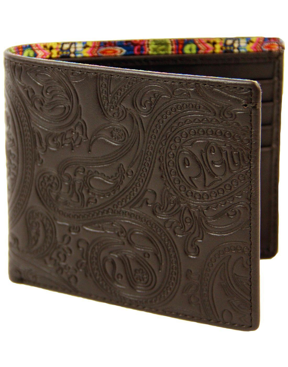 PRETTY GREEN Retro Embossed Paisley Bifold Wallet