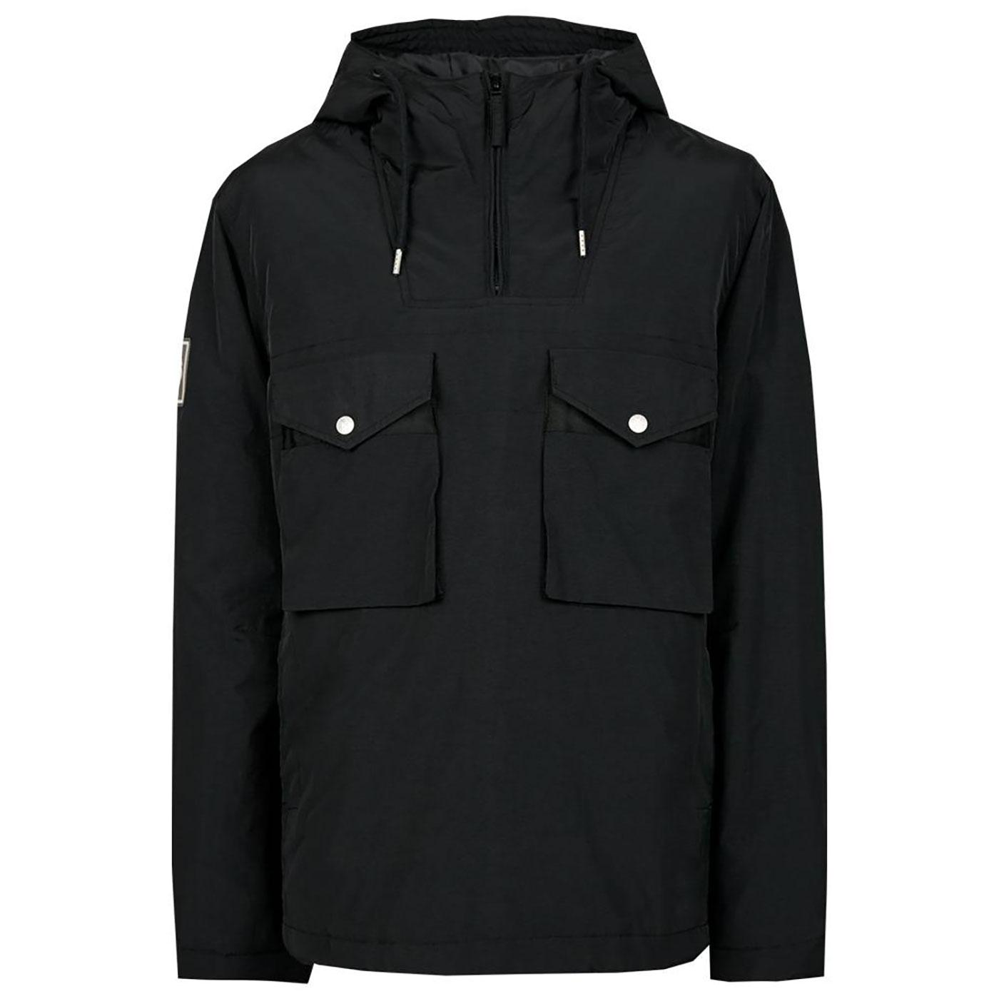 PRETTY GREEN Retro Overhead Quilted Smock Jacket