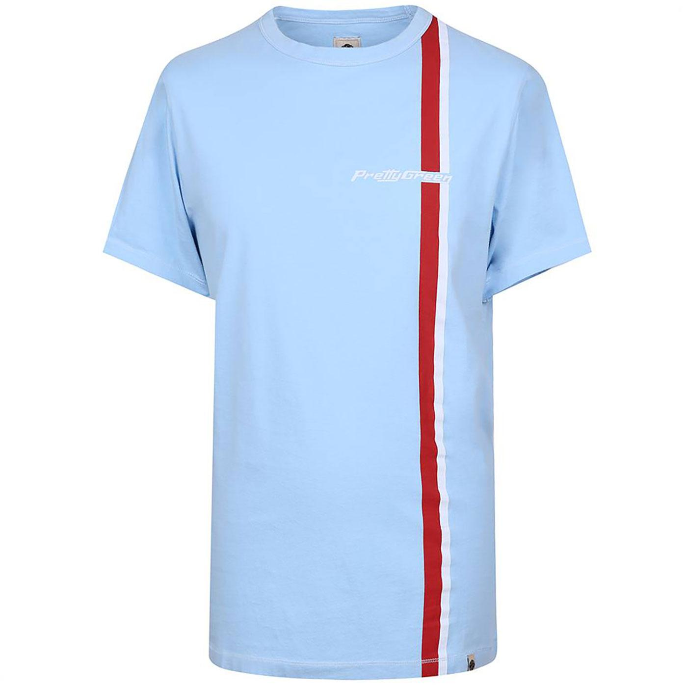PRETTY GREEN Sixties Mod Racing Stripe T-Shirt Bl