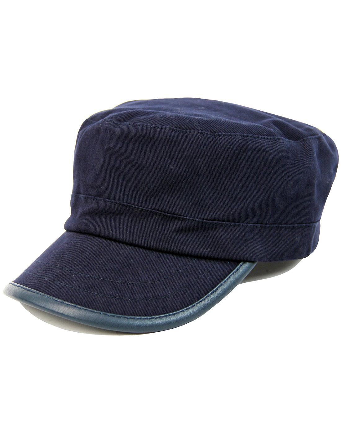 PRETTY GREEN Retro 60s Mod Cotton Railroad Hat