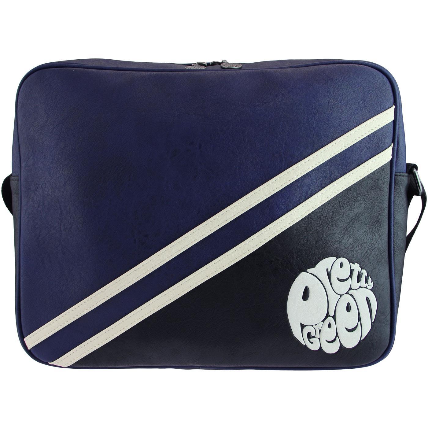 PRETTY GREEN Retro Mod Flight Shoulder Bag (Navy)