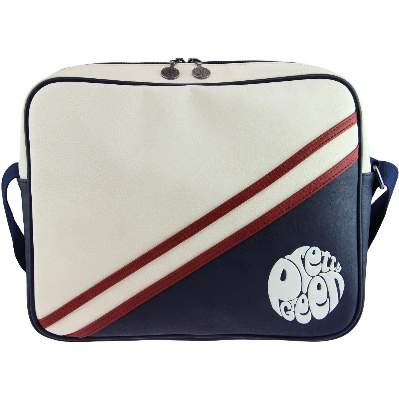 PRETTY GREEN Retro Mod Shoulder Bag (Off White)