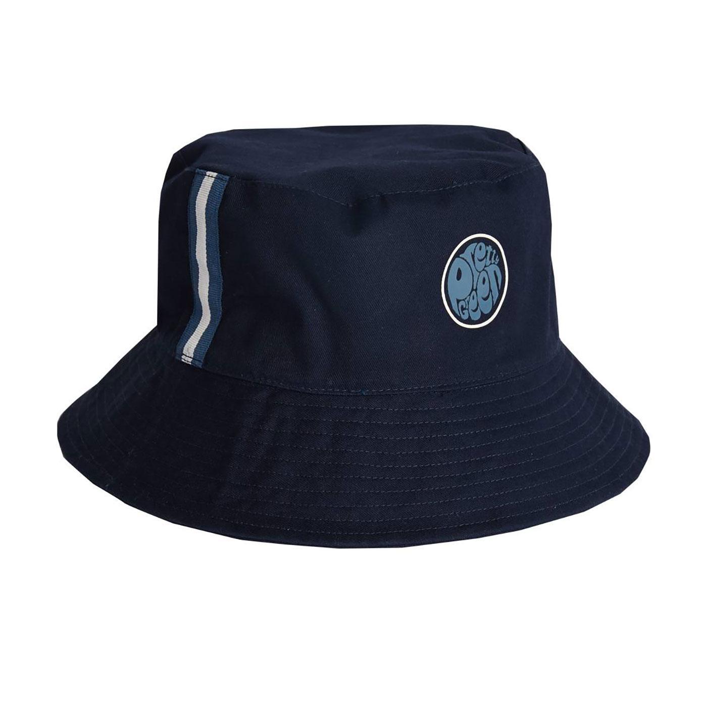 PRETTY GREEN Reversible Stripe Britpop Bucket Hat