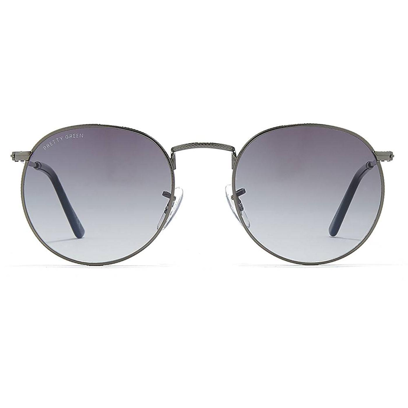 PRETTY GREEN Retro 60's Round Sunglasses GREY