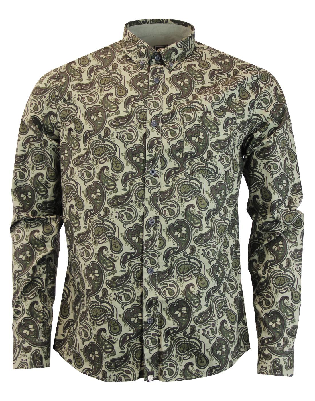 Ryder PRETTY GREEN 60s Mod Signature Paisley Shirt
