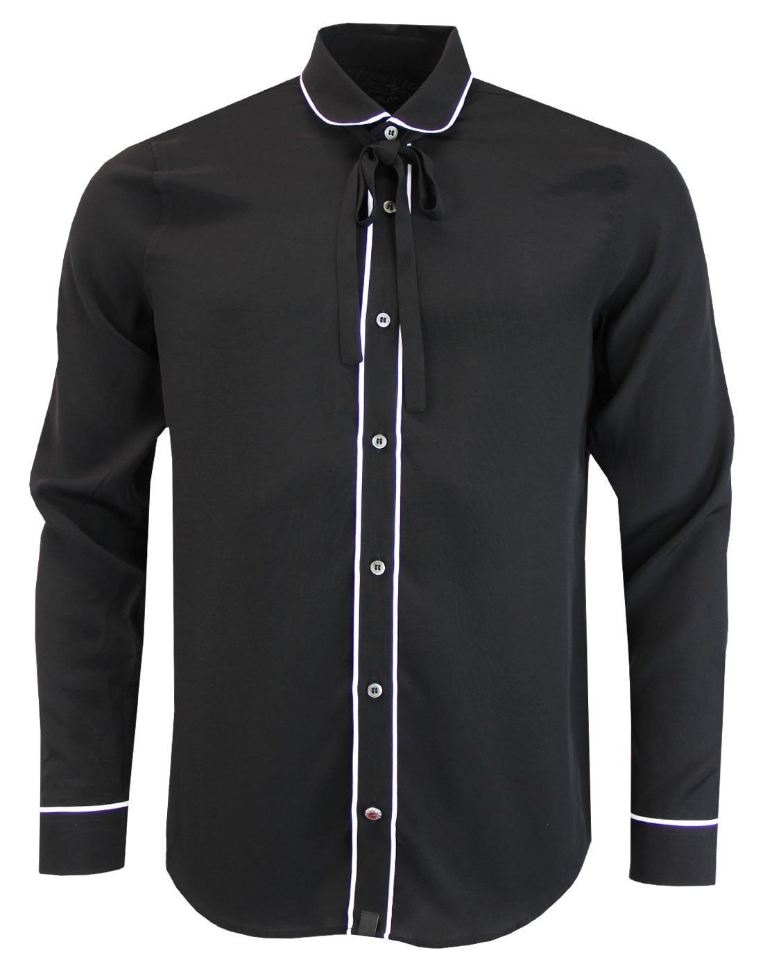Shine PRETTY GREEN Syd Barrett Neck Tie 60s Shirt