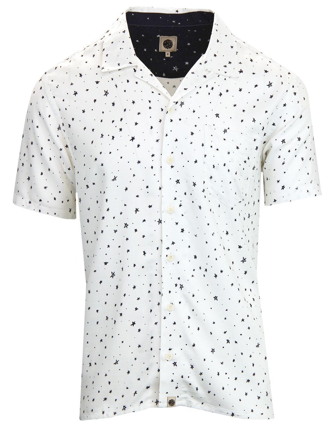 PRETTY GREEN Retro Star Print Resort Collar Shirt