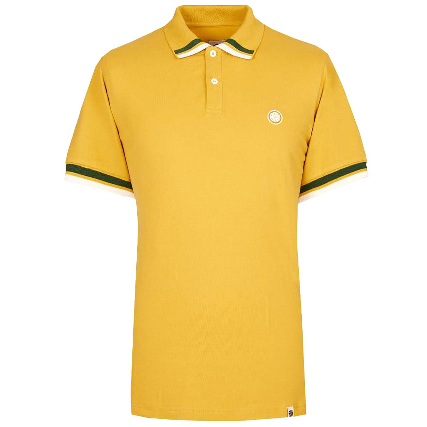 PRETTY GREEN Mod Contrast Tipping Pique Polo (Y)