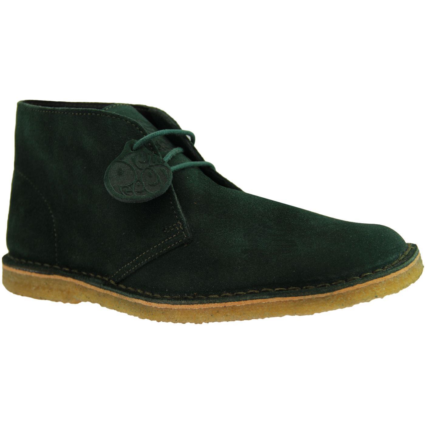 PRETTY GREEN Mod Suede Crepe Sole Desert Boots DG