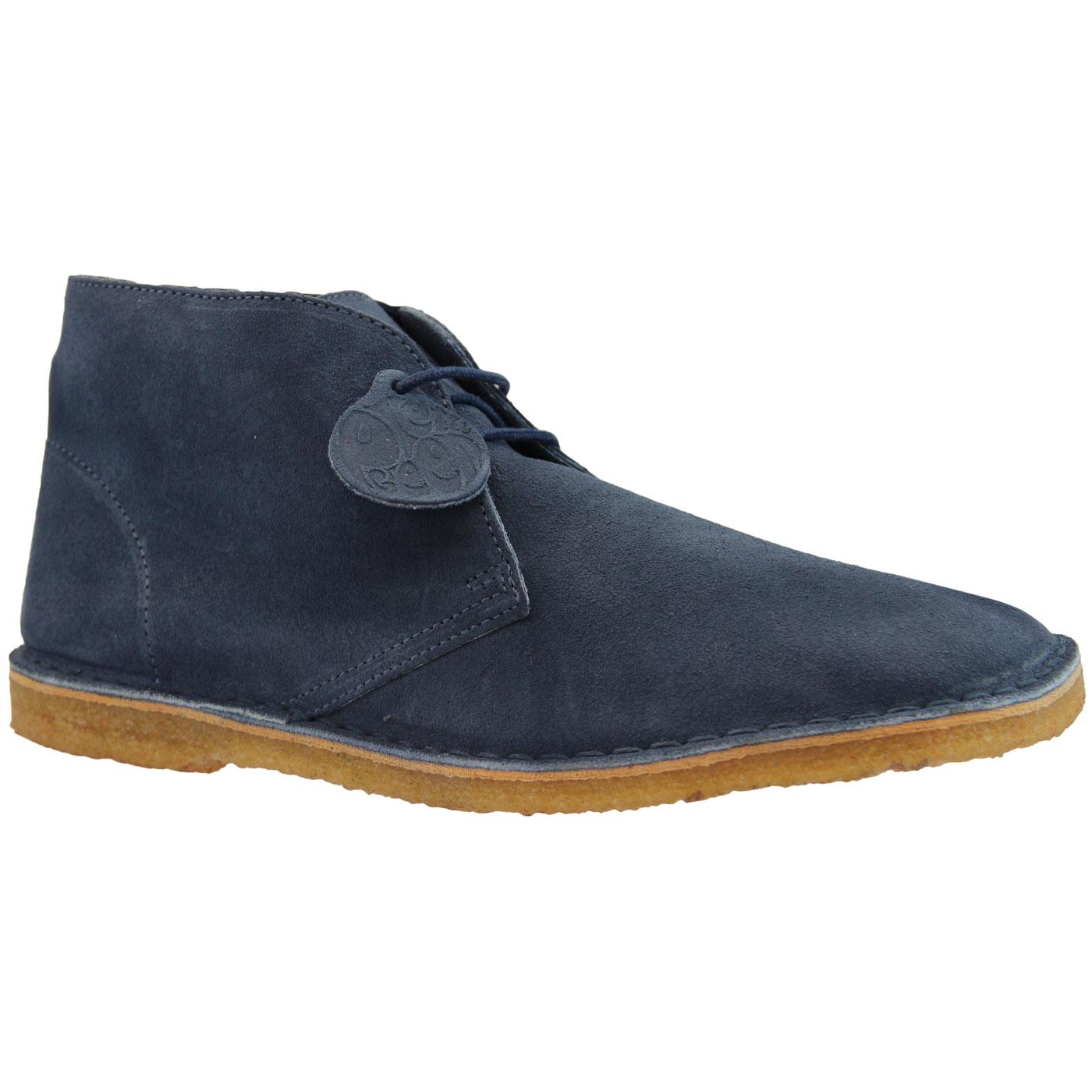 PRETTY GREEN Mod Suede Crepe Sole Desert Boots MB