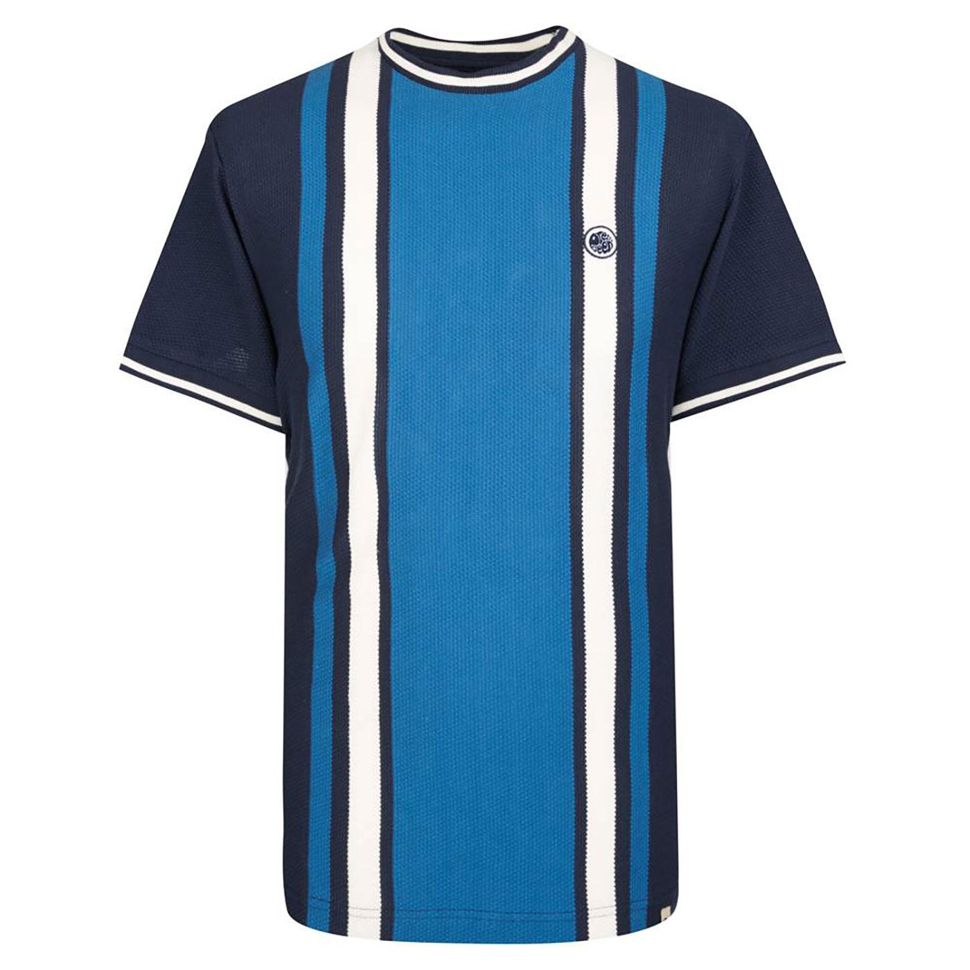 PRETTY GREEN Men's Mod Textured Stripe T-Shirt N