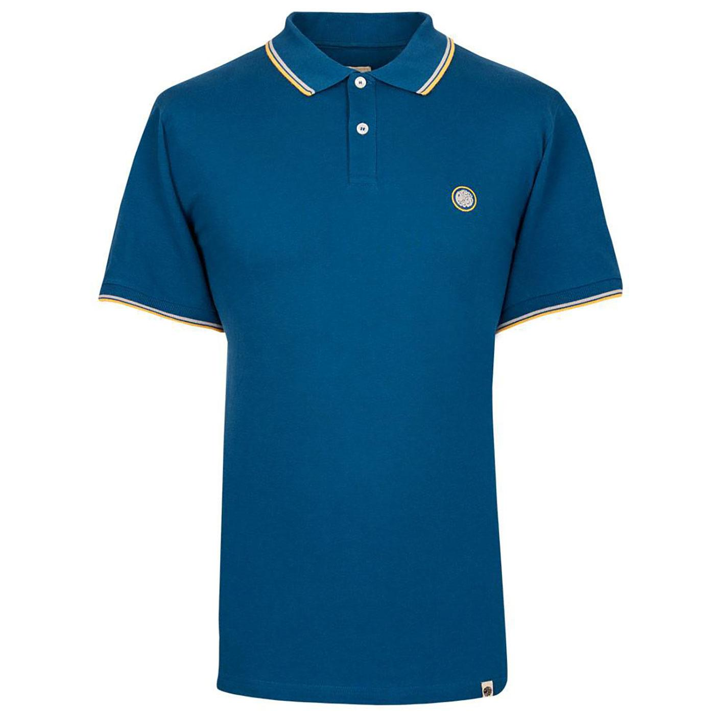 PRETTY GREEN Mod Twin Tipped Pique Polo Shirt DB