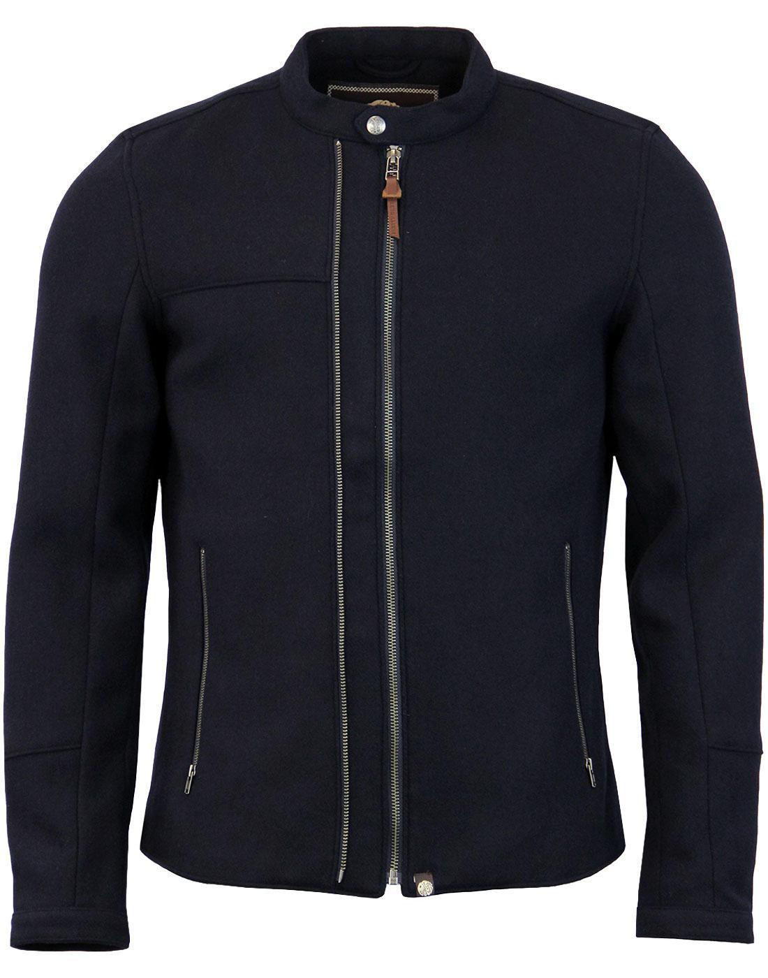 Towton Addison PRETTY GREEN 70s Wool Biker Jacket