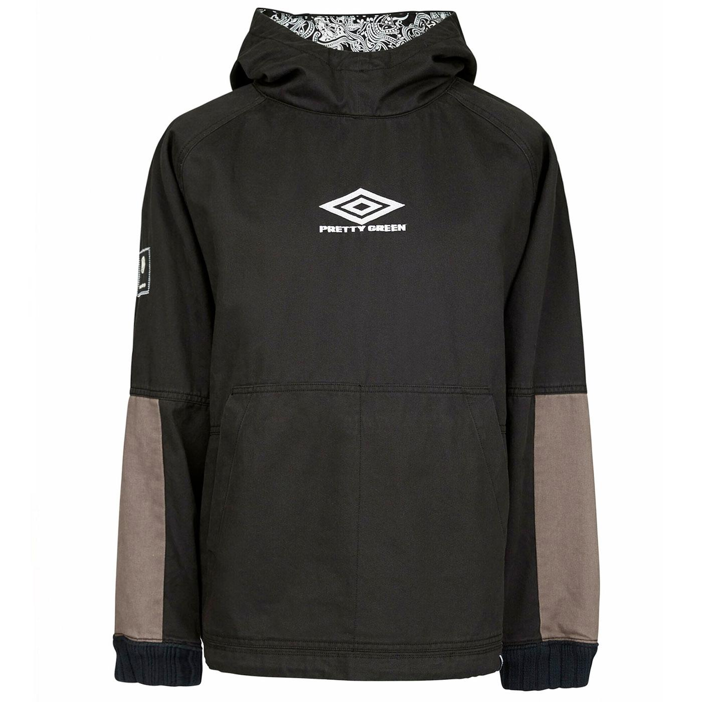 PRETTY GREEN X UMBRO Overhead Hooded Drill Top