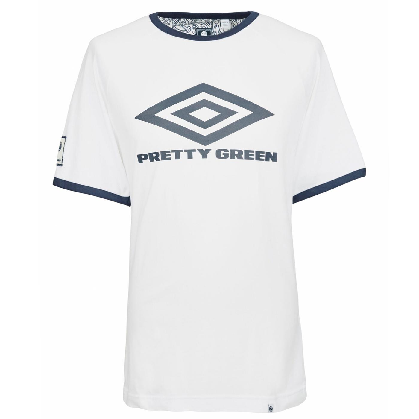 PRETTY GREEN X UMBRO Retro Indie Ringer Logo Tee
