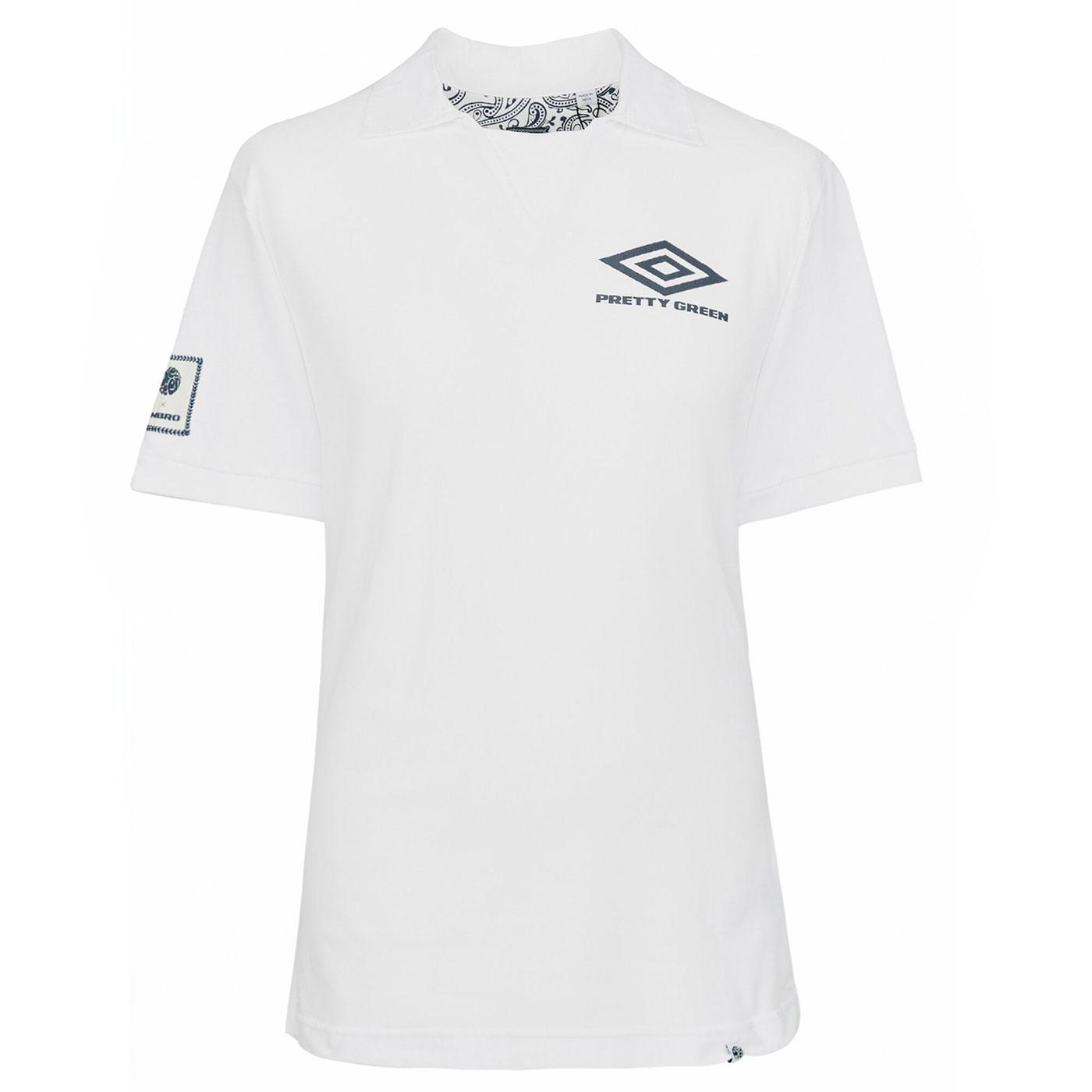 PRETTY GREEN X UMBRO Pique Retro Football Polo