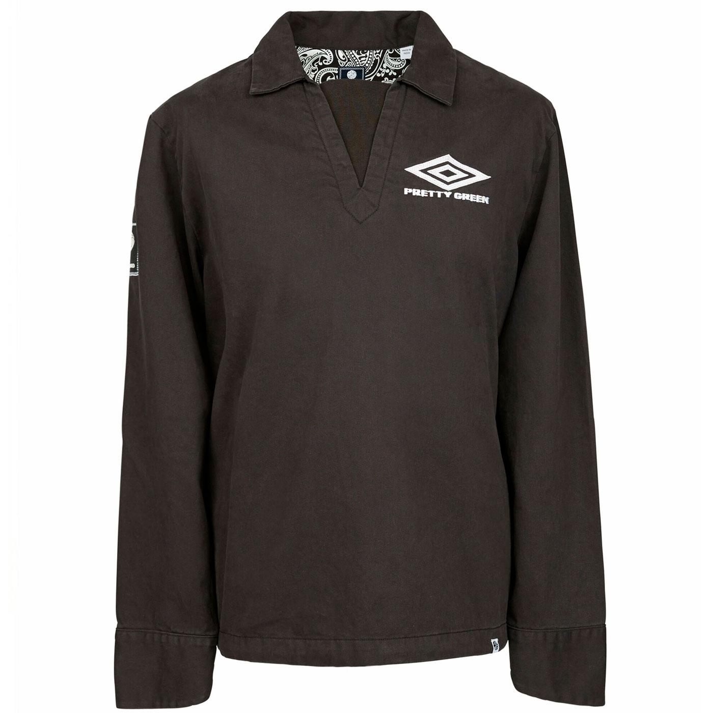 PRETTY GREEN X UMBRO Retro Training Top BLACK