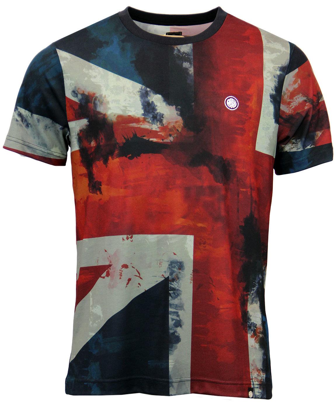 6e4f4e8e4 PRETTY GREEN Retro 1960s Mod Union Jack Print Pop Art T-Shirt