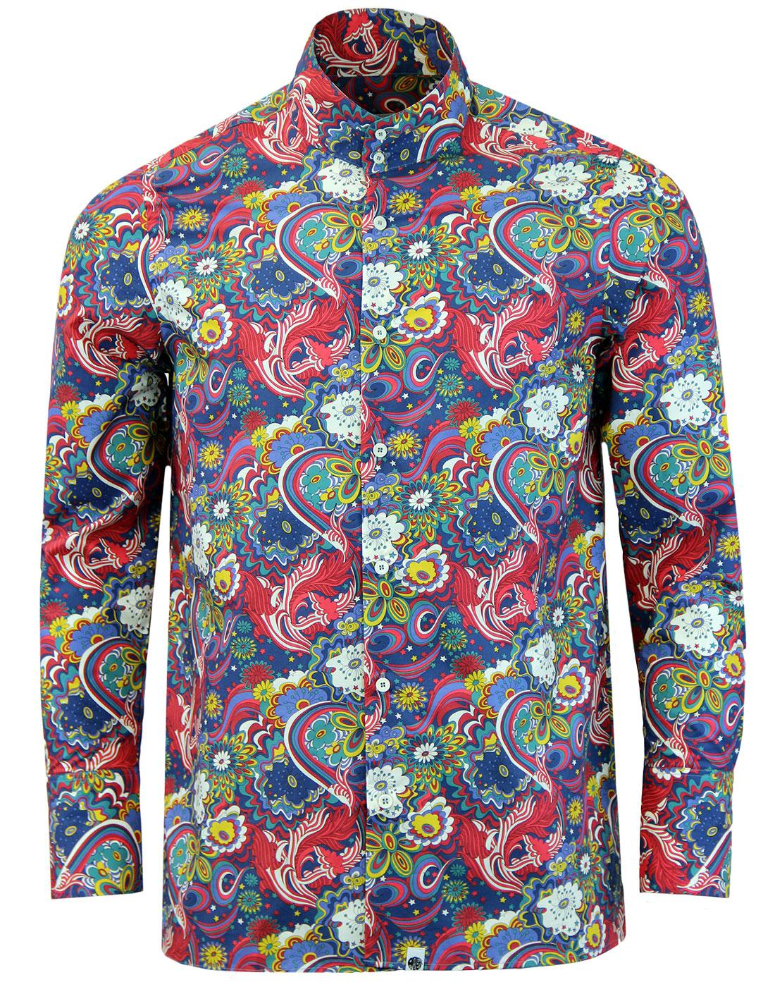PRETTY GREEN x THE BEATLES Walrus Mod Kaftan Shirt
